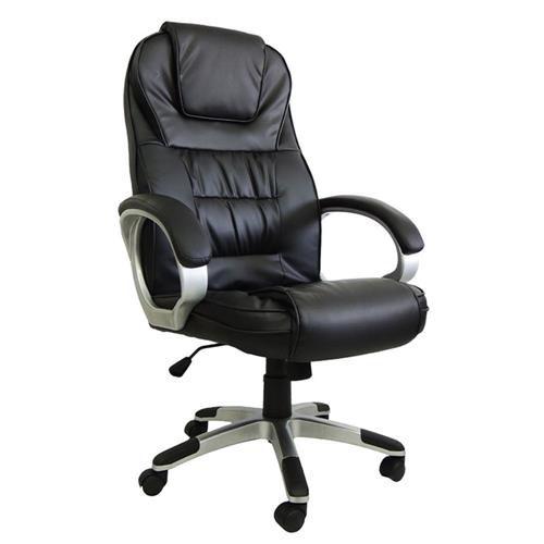 Cadeira Presidente Pelegrin Ut-C2652 Dispositivo De Massagem Couro Pu Preta