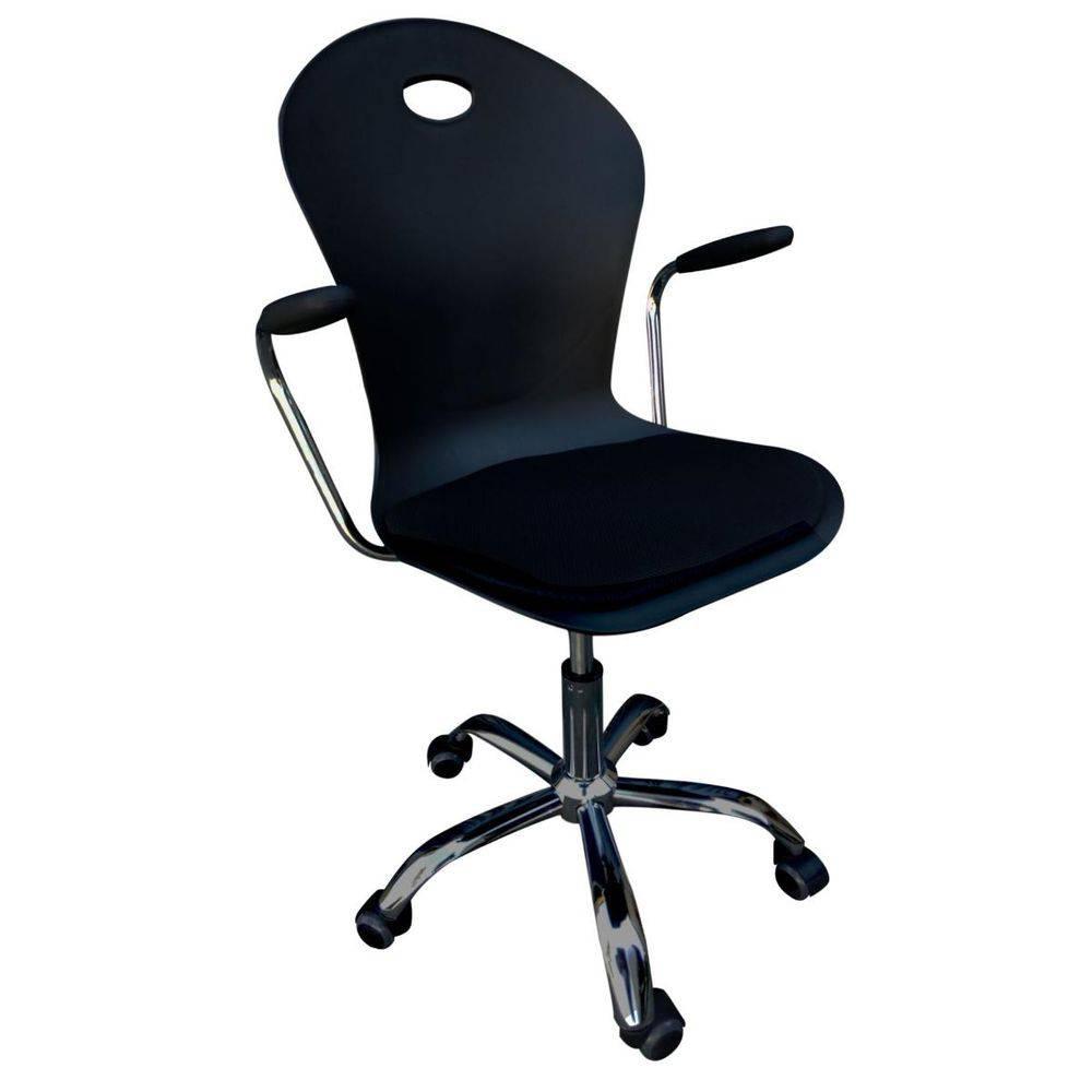 Cadeira Secretária Pelegrin Pel-1103H Polipropileno Preta