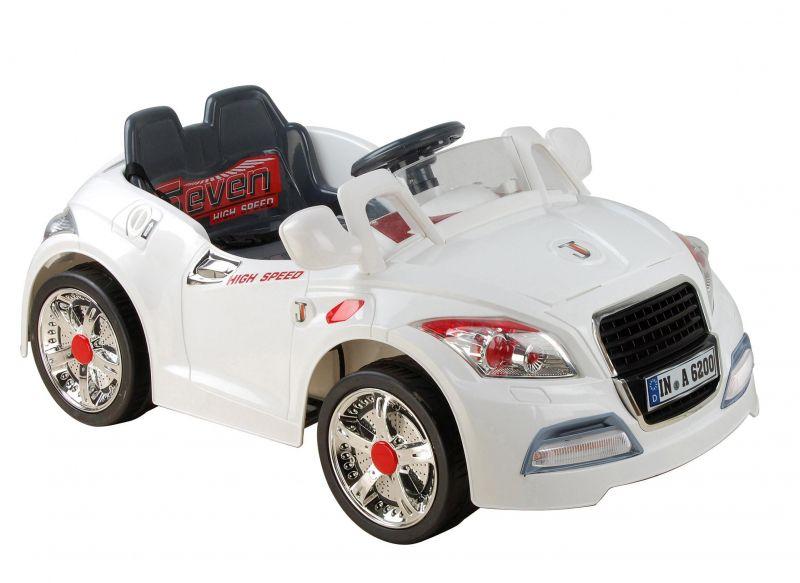 Carro Elétrico Esporte Branco Com Controle Remoto 6V