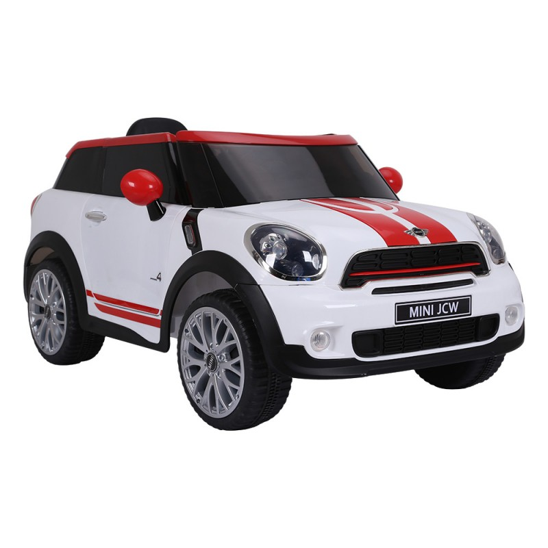 Carro Elétrico Infantil Mini Paceman 12V - Branco E Vermelho