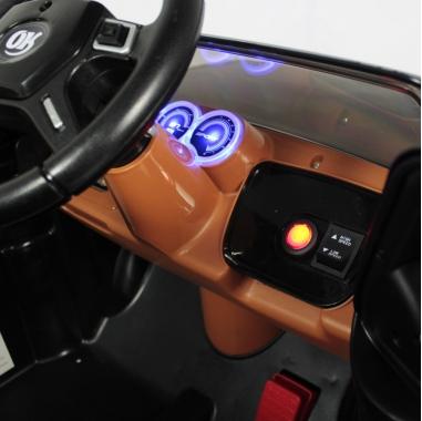 Carro Elétrico Infantil Pickup Off Road V8 - 12V Com Controle Remoto - Preto