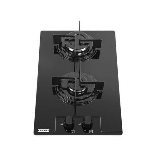 Cooktop 2 Bocas Franke Glass 30 G à Gás - Chama Rápida Acendimento Super Automático