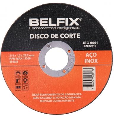 Disco De Corte Aço Inox 4.1/2'' C/ 10 Pçs Belfix