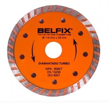 Disco Diamantado Turbo 110 mm - Belfix