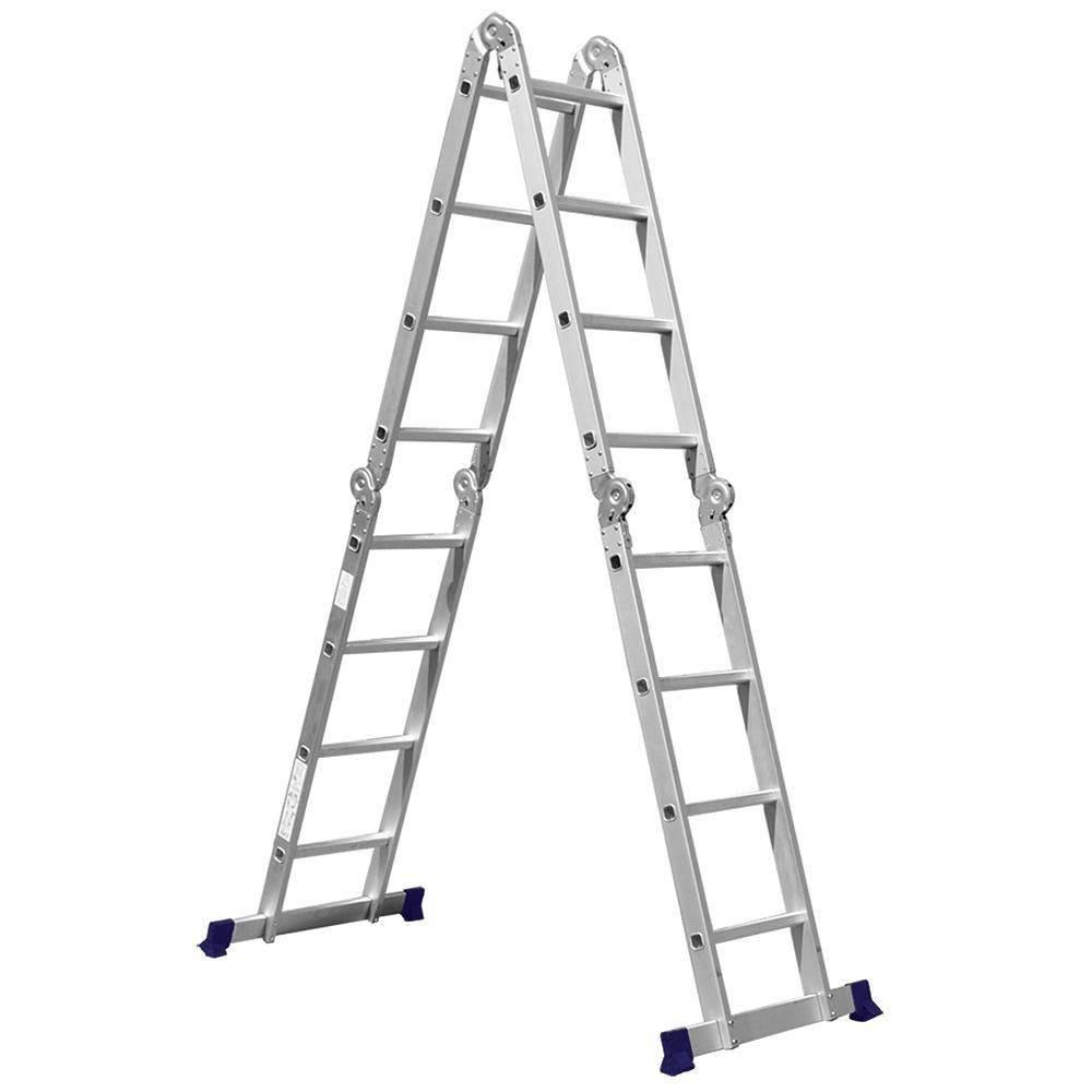 Escada De Alumínio Dobrável 16 Degraus 4x4 AM0116D
