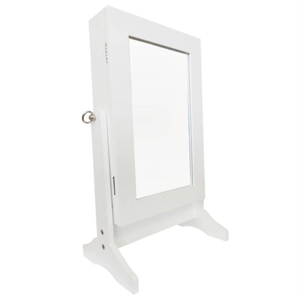 Espelho De Mesa Porta Joias e Acessórios Pelegrin W6010S