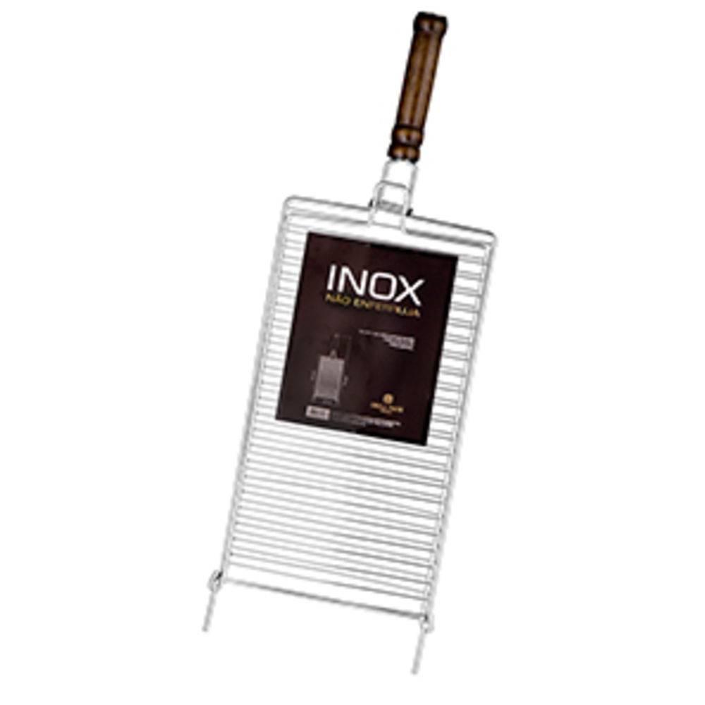 Grelha Inox Para Peixe Segredos Do Chef (M) 25X43Cm Grilazer