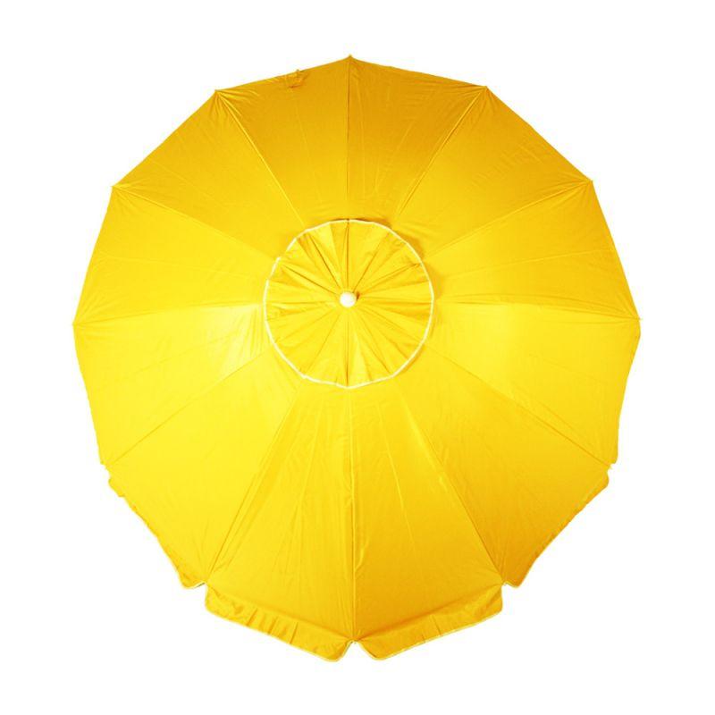 Guarda Sol Sicília Em Poliester 2,60 Metros - Amarelo