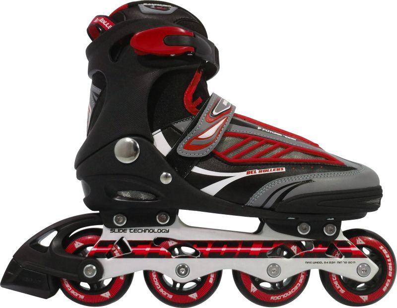 Inline Rollers Patins B Future 7000 ABEC-7 Aluminio 36 - Vermelho