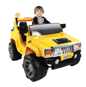 Jipe Elétrico Infantil Off-Road 2 Lugares 12V Com Controle Remoto - Amarelo