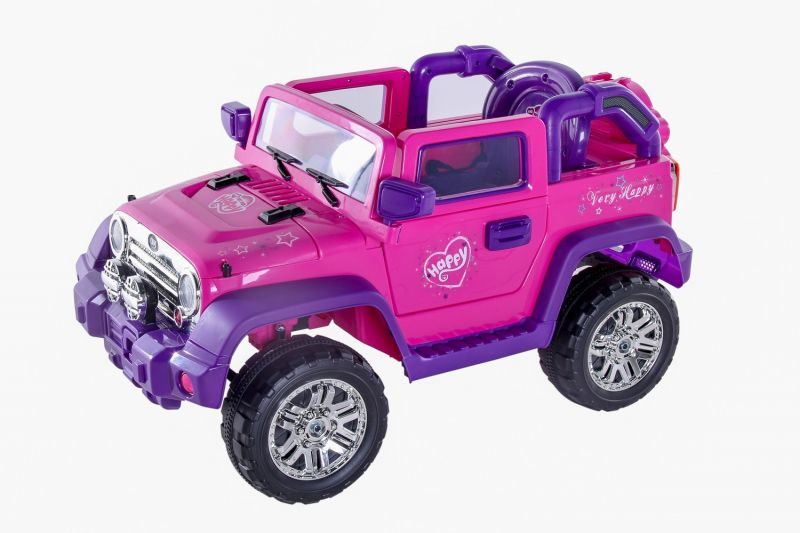 Jipe Eletrico Rali Pink Com Controle Remoto 12V