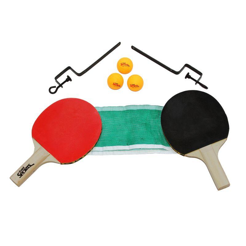 Kit 2 Raquetes De Ping Pong ( Tenis De Mesa ) + Rede + Suporte + Bola
