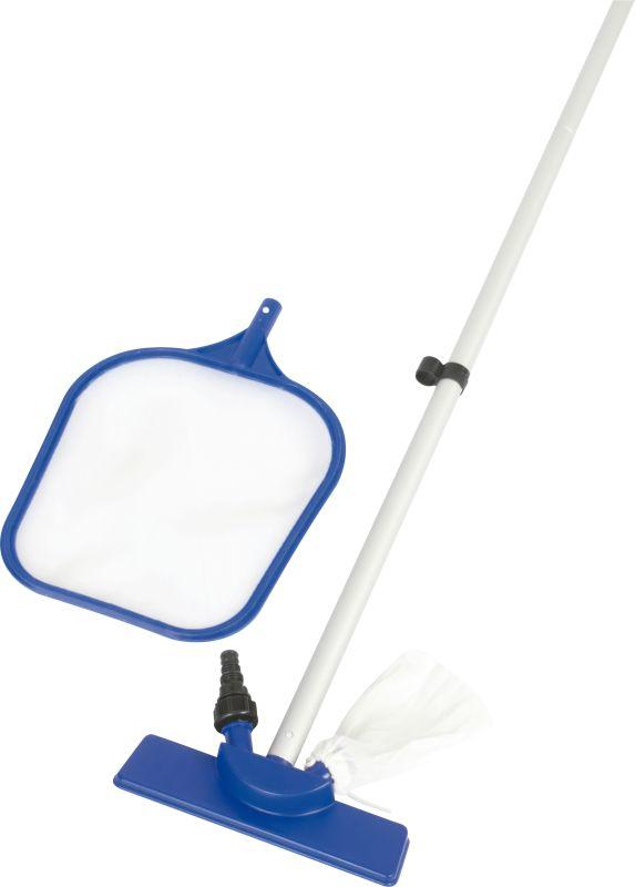 Kit De Limpeza Para Piscina Com Aspirador Rede E Cabo