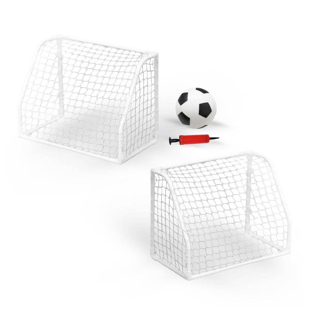 Kit Mini Trave Futebol Portátil com Redes e Bola Pelegrin PEL-FT10