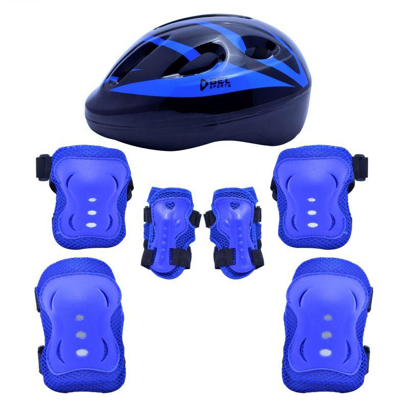 Kit Proteção Radical Com Capacete - Azul - P