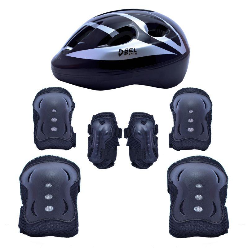 Kit Proteção Radical Com Capacete - Preto - P