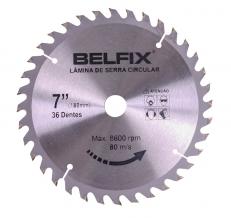 Lâmina De Serra Circular Para Madeira 7¨- 36 Dentes - Belfix