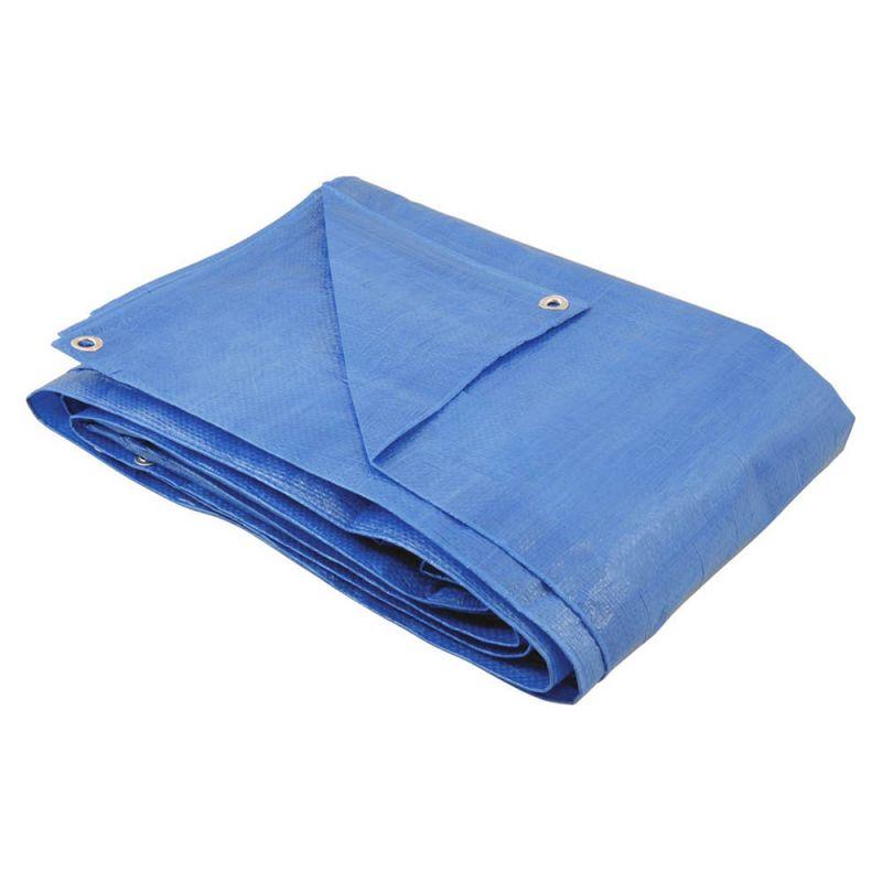Lona / Encerado De Polietileno 4 x 4 Mt - Azul