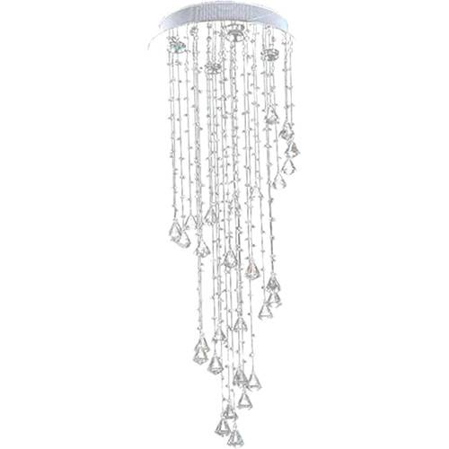 Lustre Waterfall Com Adornos Em Cristal Alto Brilho - Pelegrin