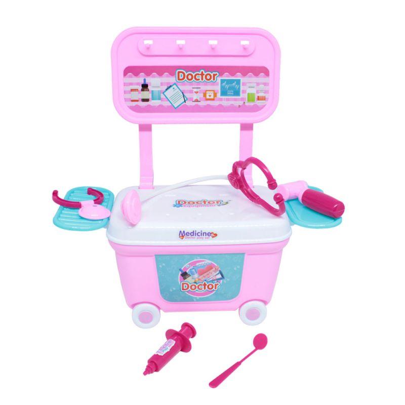 Mini Kit Carrinho Infantil Rosa Da Doutora - Belfix