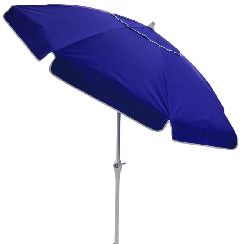 Ombrellone Bagum 2,20 Mt - Articulado Com Manivela - Azul