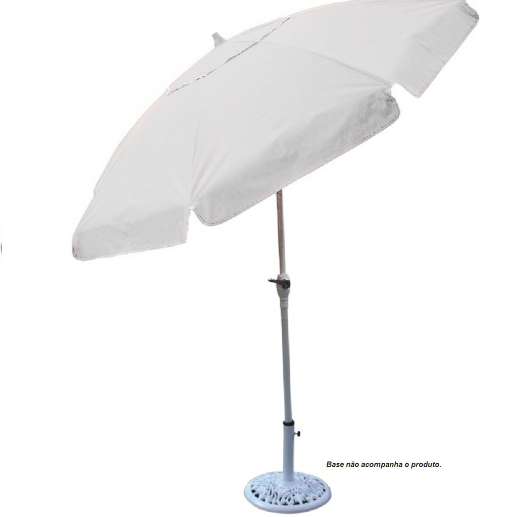Ombrellone Bagum 2,50 m Alum/Art/Maniv. Branco
