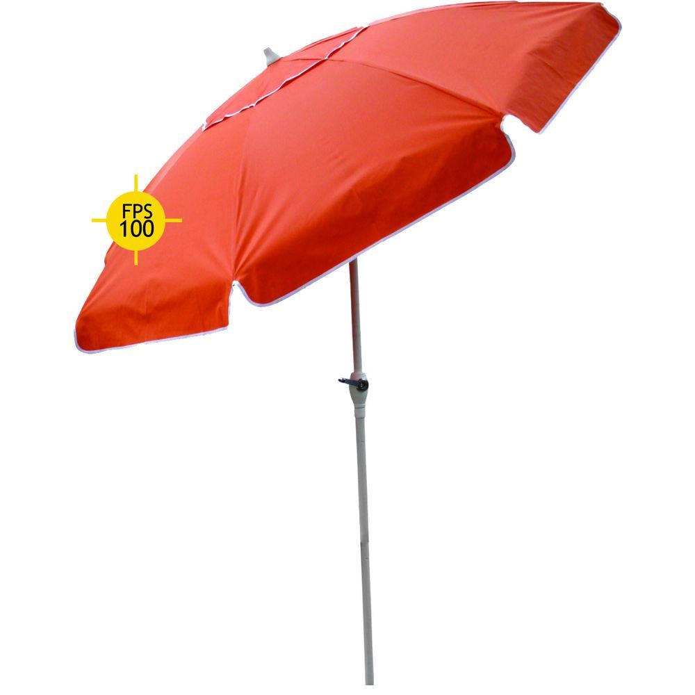 Ombrellone Bagum 2,50 Mt - Articulado Com Manivela - Vermelho