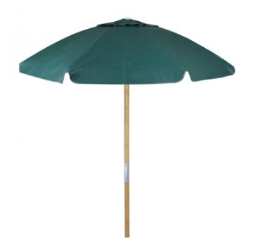 Ombrellone Guarda Sol De Madeira Cobertura Em Pvc Bagum  2,00 M Verde