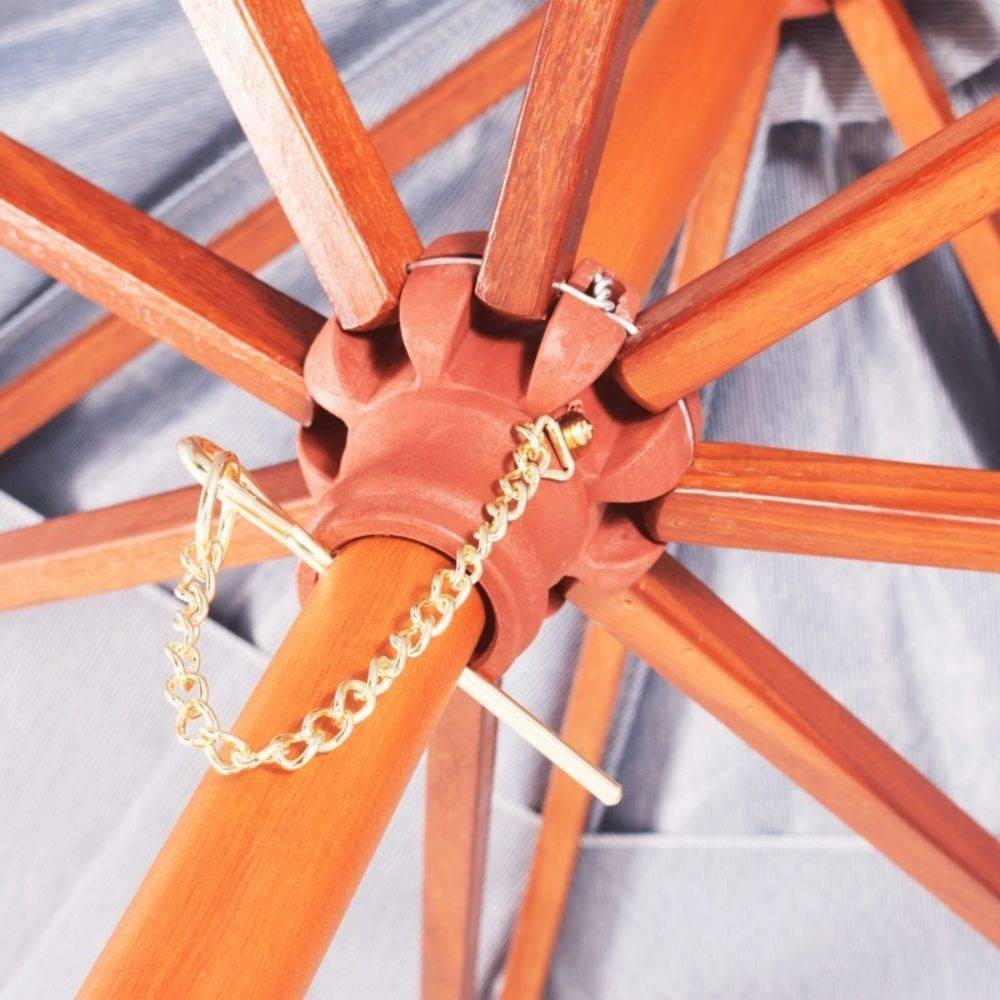 Ombrellone Madeira Cobertura PVC Bagun  2,40 Metros Branco