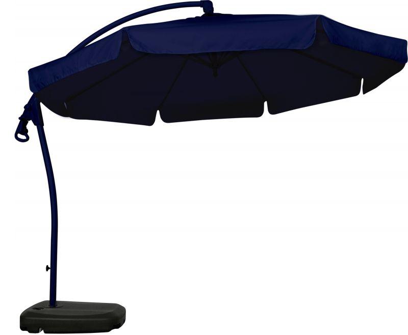 Ombrellone Suspenso Búzios 3,00 Mt Gira 360 º Com Base 50 Litros - Azul