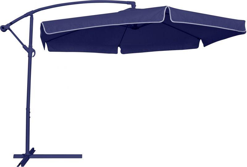 Ombrellone Suspenso Manivela Poliéster 3,00 Metros Azul