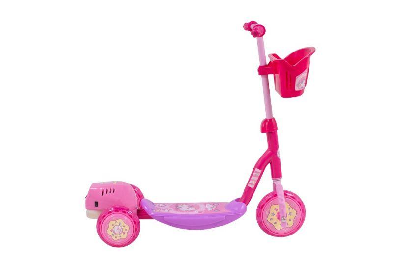 Patinete Infantil Bubble Rosa - Solta Bolha de Sabão