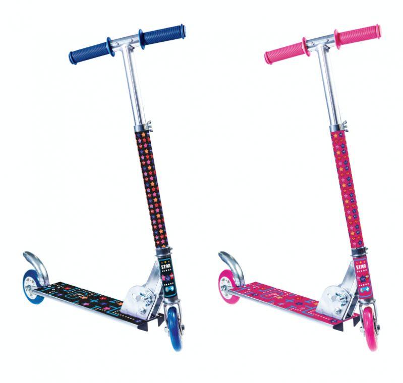 Patinete Radical Alumínio 2 Rodas Infantil Star Azul ou Rosa