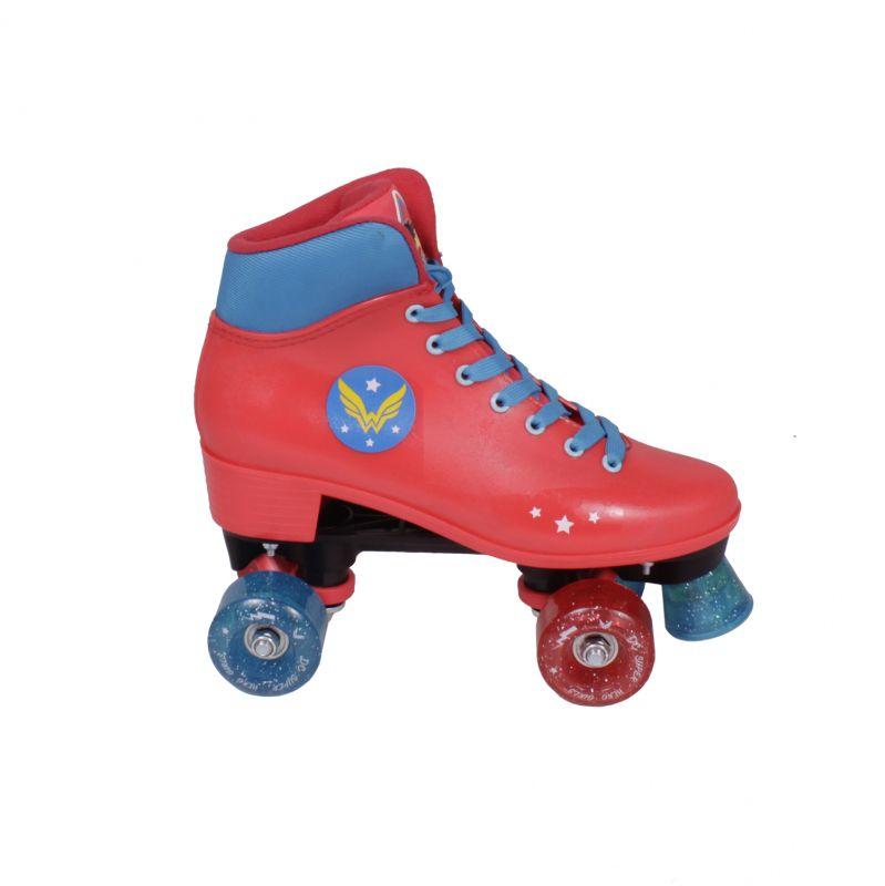 Patins Roller Mulher Maravilha - Super Hero Girls Infantil - 32-33