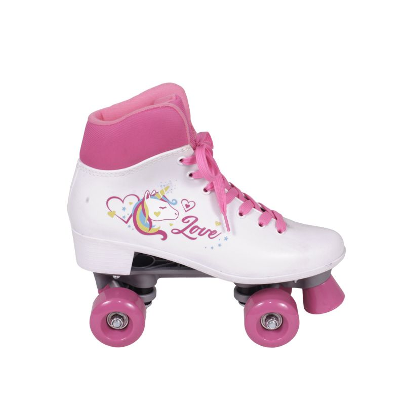 Roller Patins Retro Quad Love Rosa 36