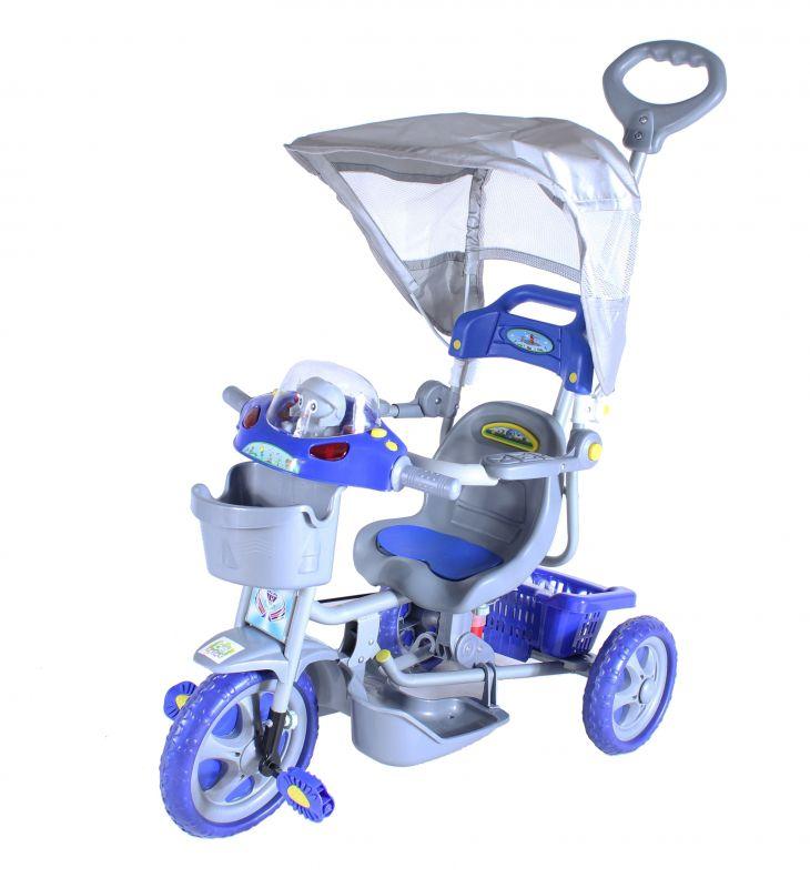 Triciclo Infantil Com Capota E.T Azul 9008