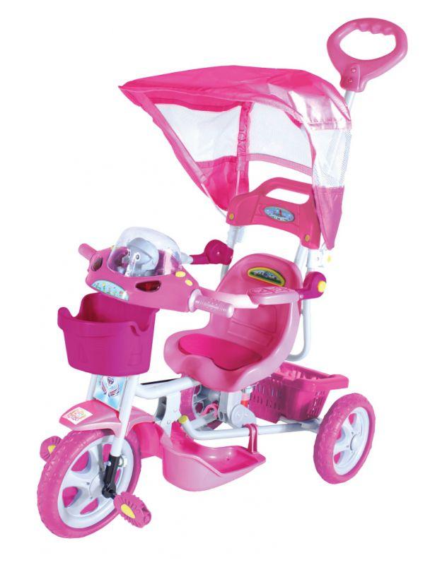 Triciclo Infantil Com Capota E. T. Rosa 9010