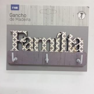 GANCHO DE MADEIRA MDF FAMÍLIA