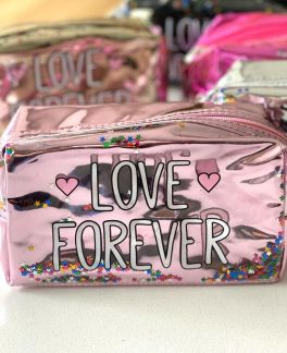 NECESSAIRE LOVE FOREVER COM ESTRELINHAS PEQUENA