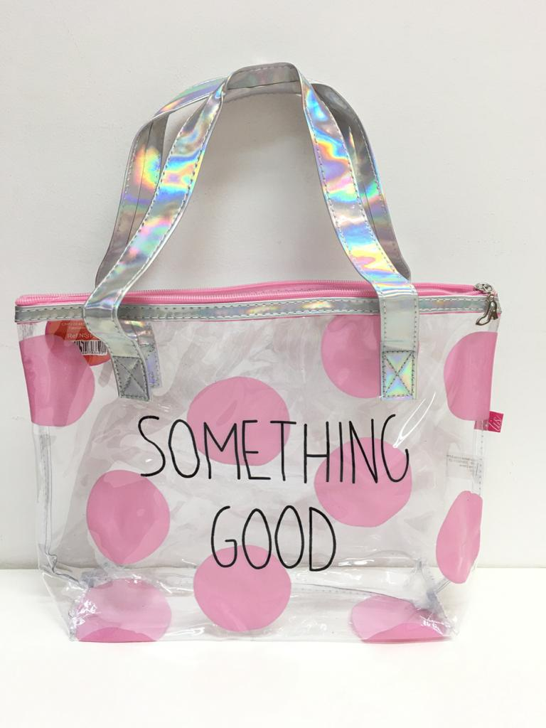 BOLSA TRANSPARENTE SOMETHING GOOD