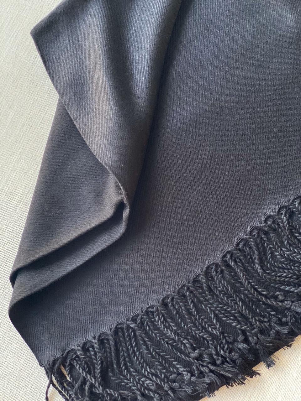 PASHIMINA VISCOSE LISA BLACK