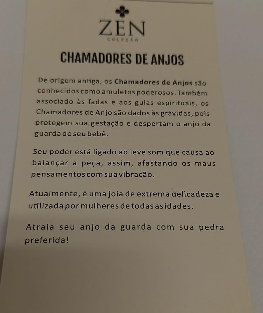 PINGENTE CHAMADOR DE ANJOS GRANDE COM PEDRAS SORTIDAS
