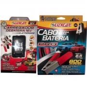 Kit Cabo Chupeta + Carregador  Bateria Eletronico Automotivo