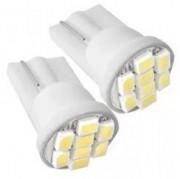 LAMPADA PINGAO LED SUPER BRANCA SMD T10 12V 8 LED'S 57442
