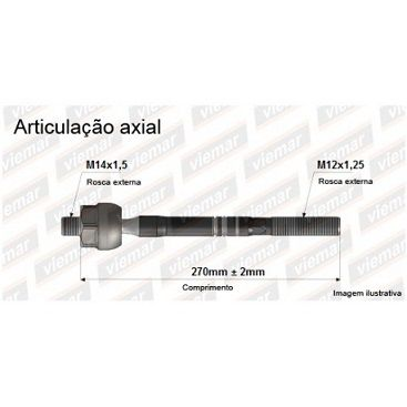 ARTICULACAO AXIAL TOYOTA ETIOS 2012/ 680550
