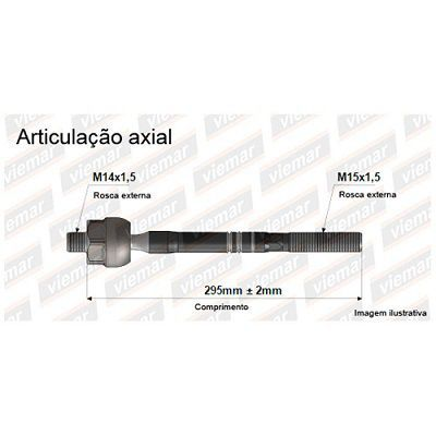 ARTICULACAO AXIAL TOYOTA HILUX PICK-UP/SW4 680285  - Campos Auto Peças