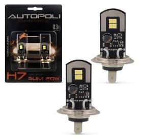 LAMPADA LED H7 12/24V 20W 6500K BRANCA  - Campos Auto Peças