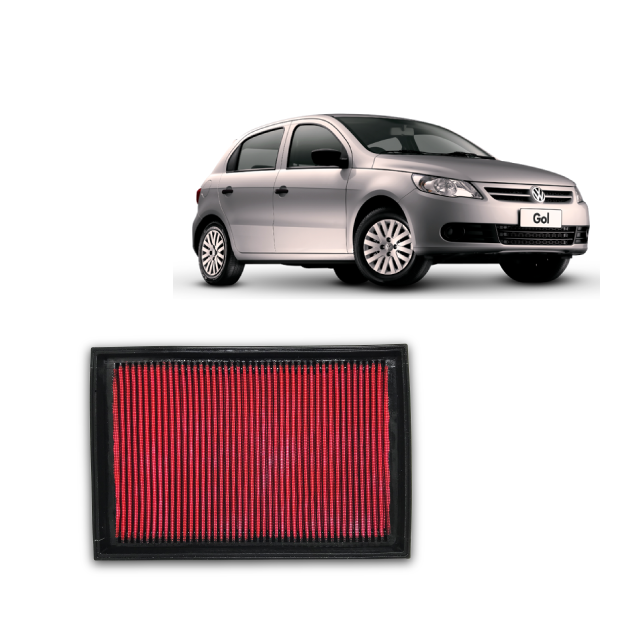 Filtro De Ar Esportivo Inbox VW Gol G5/G6 1.0 VHT