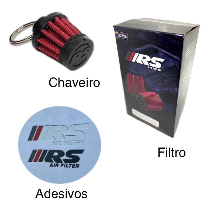 Kit Filtro De Ar Esportivo Cônico Mono Fluxo Fusca Carburação Dupla + Respiro