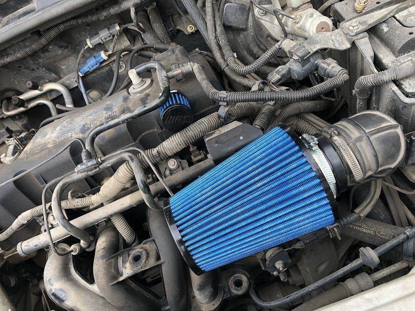 Kit Filtro  de ar Esportivo Cônico para FORD Ka e Fiesta 1.0 Zetec Rocam 2009 até 2013
